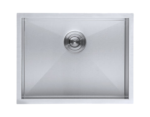 DAX Single Bowl Undermount Kitchen Sink, 18 Gauge Stainless Steel, Brushed Finish , 23 x 18 x 10 Inches (DAX-SQ-2318-X)