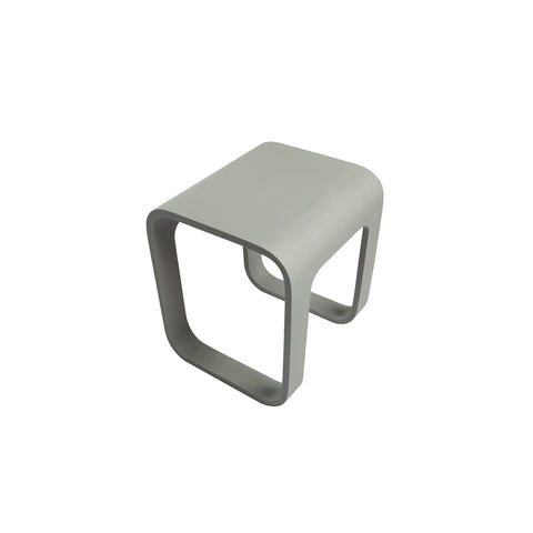 DAX Solid Surface Shower Stool - Matte Gray (DAX-ST-03-G)