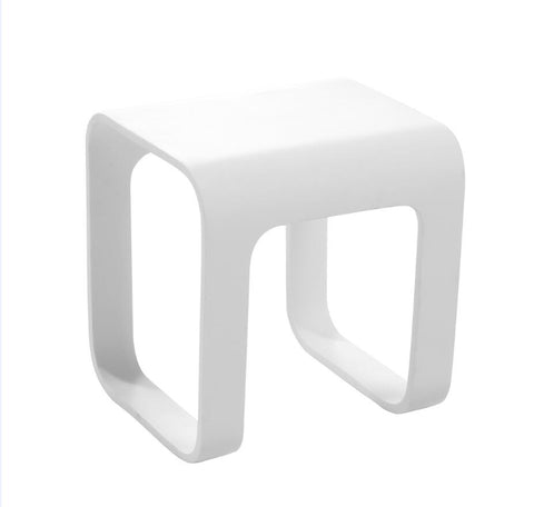 DAX Solid Surface Shower Stool - Matte White (DAX-ST-03)