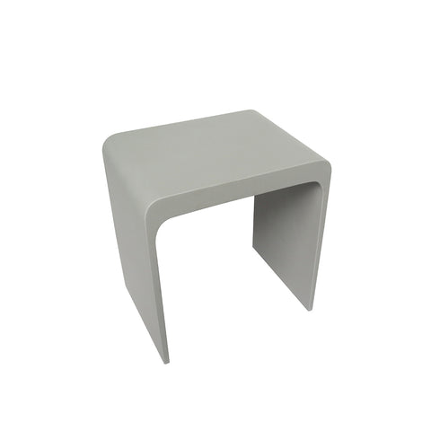 DAX Solid Surface Shower Stool - Matte Gray (DAX-ST-04-G)