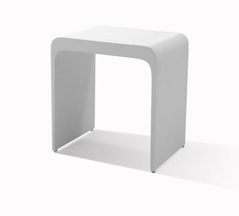 DAX Solid Surface Shower Stool - Matte White (DAX-ST-04)