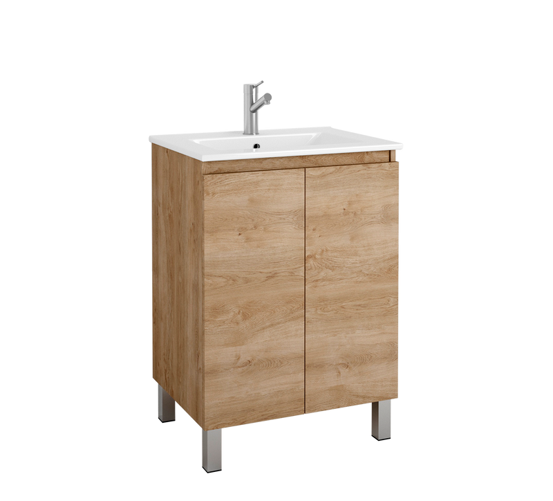 "DAX Sunset vanity cabinet 24"", oak with Onix basin (DAX-SUN012414-ONX)"