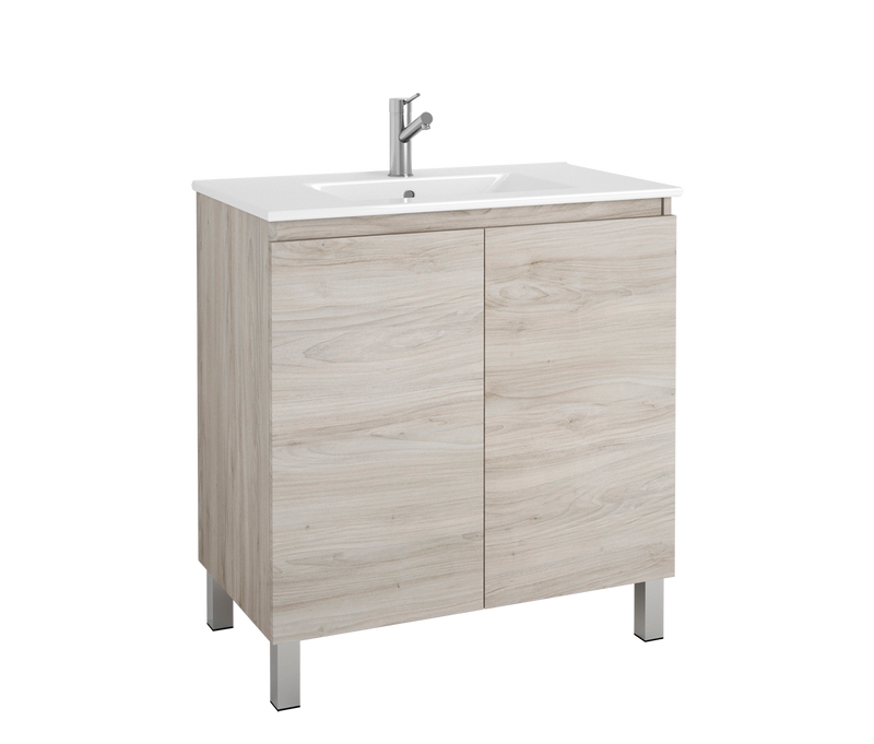 "DAX Sunset vanity cabinet 32"", pine with Onix basin (DAX-SUN013212-ONX)"
