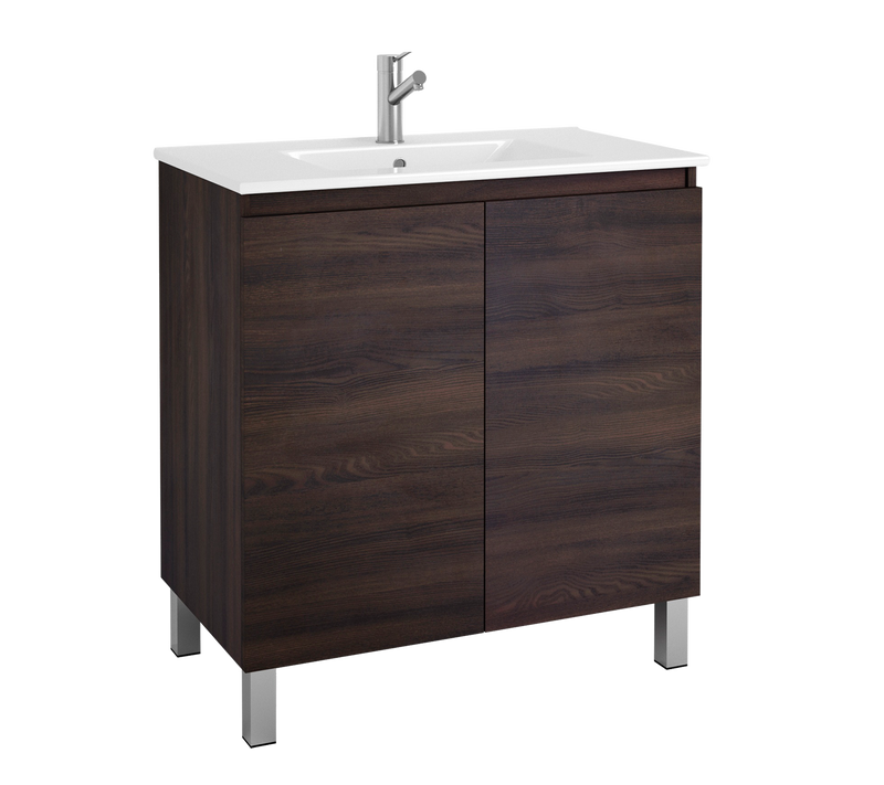 "DAX Sunset vanity cabinet 32"", wenge with Onix basin (DAX-SUN013213-ONX)"