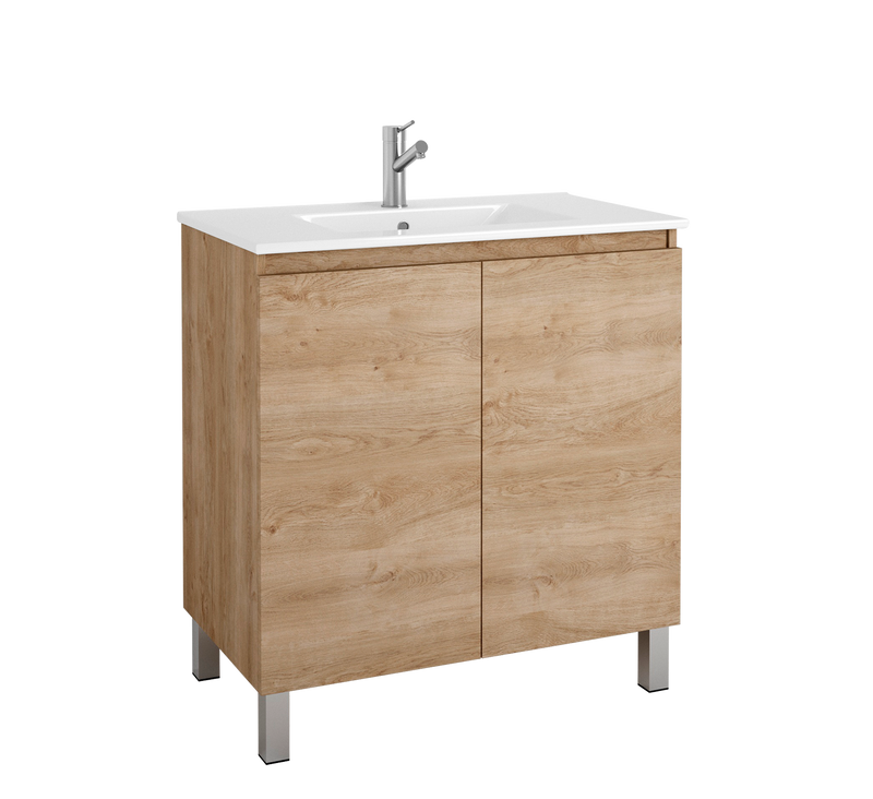 "DAX Sunset vanity cabinet 32"", oak with Onix basin (DAX-SUN013214-ONX)"