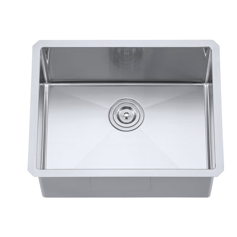 "DAX Single bowl Undermount kitchen sink. R10. 23"" x 18"" (DAX-T2318-R10)"