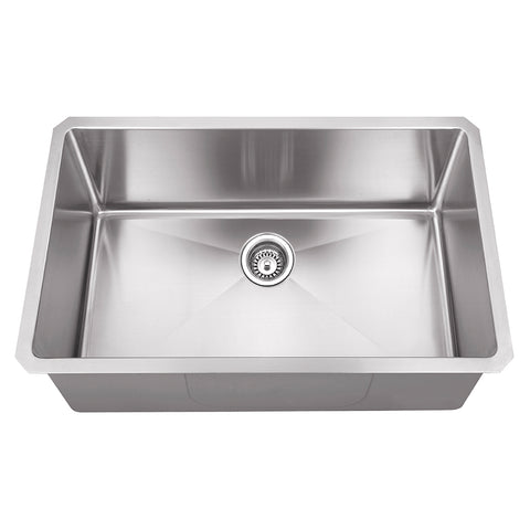 "DAX Single bowl Undermount kitchen sink. R10. 30"" x 18"" (DAX-T3018-R10)"