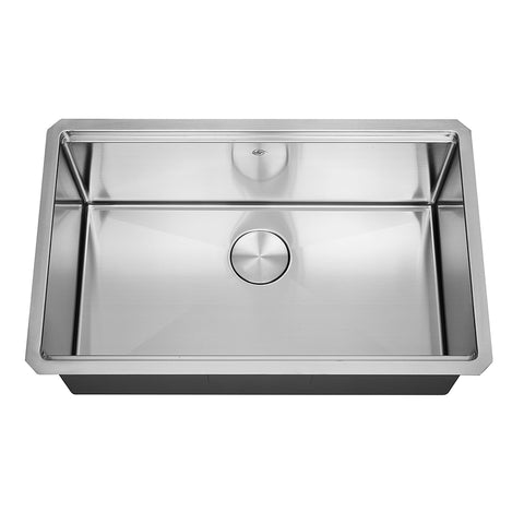 DAX Workstation Undermount Single Bowl Kitchen Sink - Handmade - Stainless Steel 304 -16 Gauge - Accessories Included (DAX-WS3019-R10)