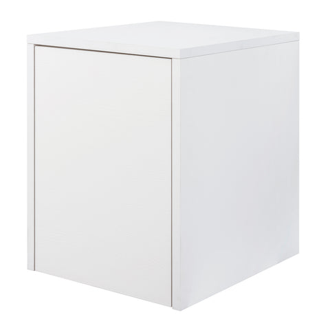 "16"" Lower Side Cabinet, Wall Mount, 1 Door, White, ZEN Collection by DAX"