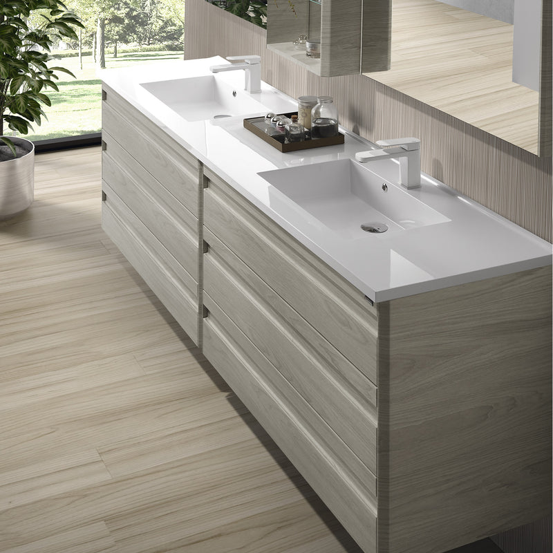 Valenzuela Barcelona Double Vanity Cabinet 6 Drawers 64 Inches Cloud