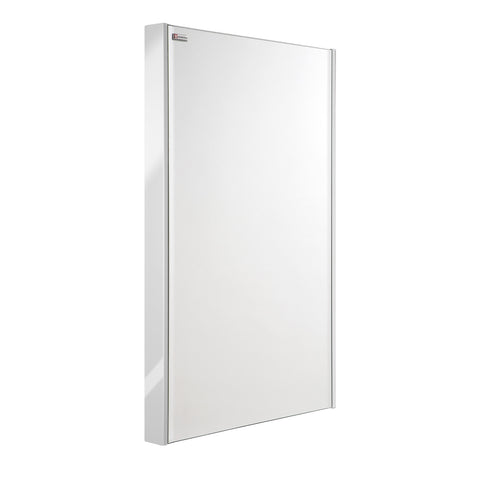 "20"" Slim Frame Bathroom Vanity Mirror, Wall Mount, White, Serie Bento by VALENZUELA"