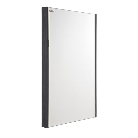 "20"" Slim Frame Bathroom Vanity Mirror, Wall Mount, Grey, Serie Dune/Solco by VALENZUELA"