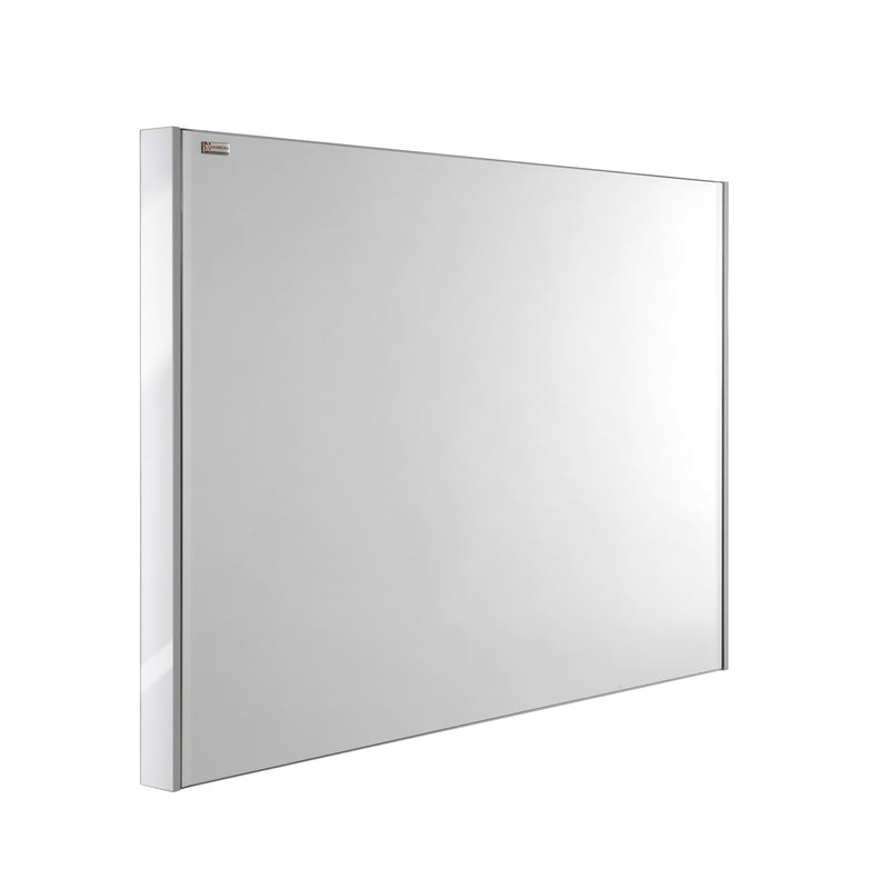 "24"" Slim Frame Bathroom Vanity Mirror, Wall Mount, White, Serie Barcelona by VALENZUELA"