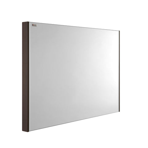 "24"" Slim Frame Bathroom Vanity Mirror, Wall Mount, Walnut, Serie Barcelona by VALENZUELA"