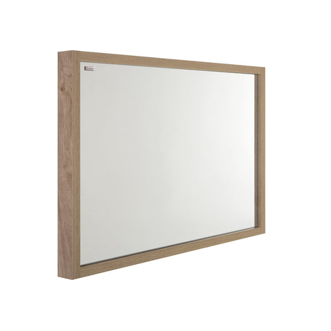 "40"" Slim Frame Bathroom Vanity Mirror, Wall Mount, Oak, Serie Tino by VALENZUELA"