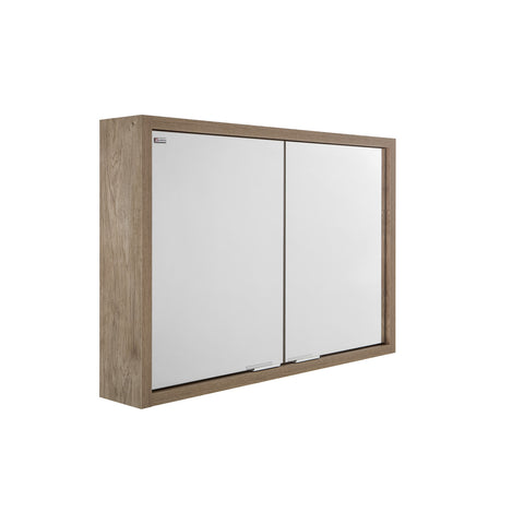 "40"" Medicine Cabinet Bathroom Vanity Mirror, Wall Mount, Oak, Serie Tino by VALENZUELA"
