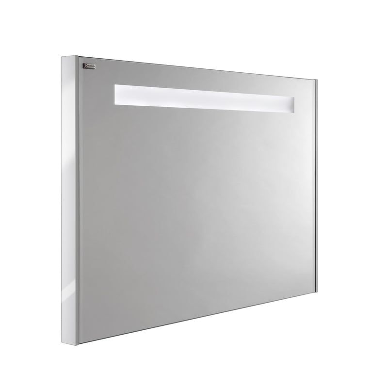 "28"" LED Backlit Bathroom Vanity Mirror, Wall Mount, White, Serie Barcelona by VALENZUELA"