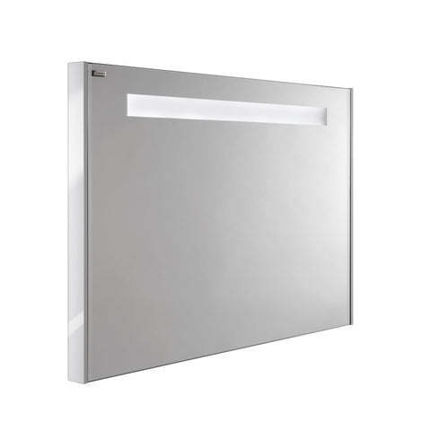 "48"" LED Backlit Bathroom Vanity Mirror, Wall Mount, White, Serie Dune/Solco by VALENZUELA"