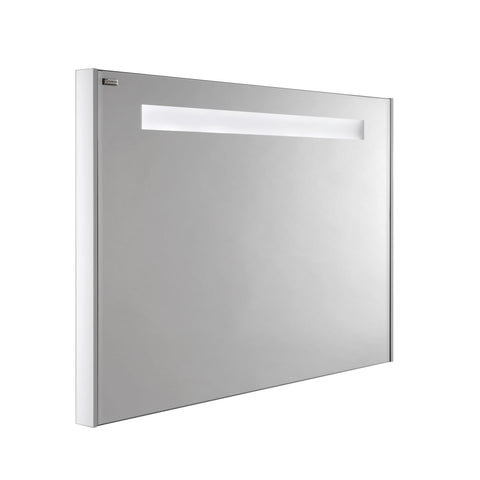 "48"" LED Backlit Bathroom Vanity Mirror, Wall Mount, White Matt, Serie Class by VALENZUELA"