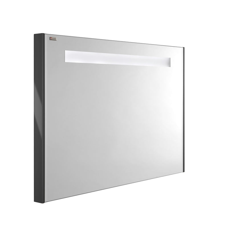 "32"" LED Backlit Bathroom Vanity Mirror, Wall Mount, Grey, Serie Dune/Solco by VALENZUELA"