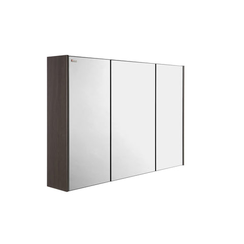 "40"" Medicine Cabinet Bathroom Vanity Mirror, Wall Mount, 3 Doors, Walnut, Serie Barcelona by VALENZUELA"