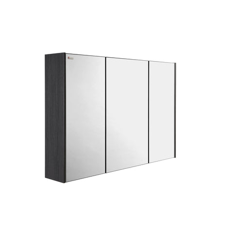 "40"" Medicine Cabinet Bathroom Vanity Mirror, Wall Mount, 3 Doors, Grey, Serie Dune/Solco by VALENZUELA"