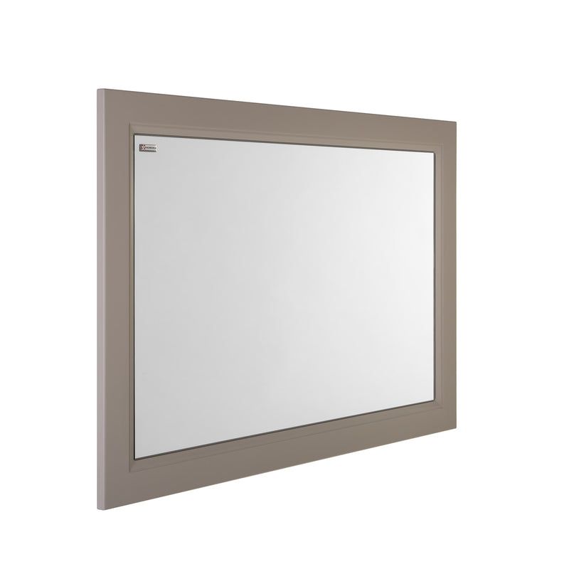 "40"" Framed Bathroom Vanity Mirror, Wall Mount, Mink Matt, Serie Class by VALENZUELA"