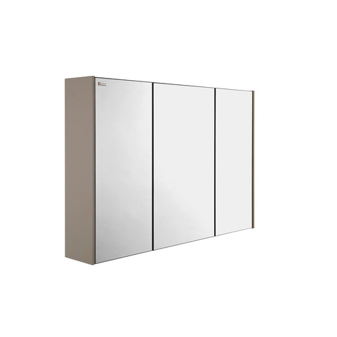 "32"" Medicine Cabinet Bathroom Vanity Mirror, Wall Mount, 3 Doors, Mink Matt, Serie Class by VALENZUELA"