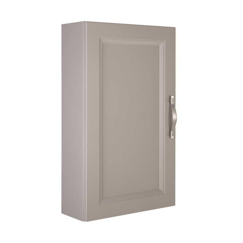 "16"" Small Side Cabinet, Wall Mount, 1 Door with Handle Soft Close and Reversible Opening, Mink, Serie Class by VALENZUELA"