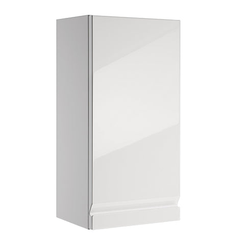 "16"" Small Side Cabinet, Wall Mount, 1 Door whit Soft Close and Left Opening, White, Serie Solco by VALENZUELA"