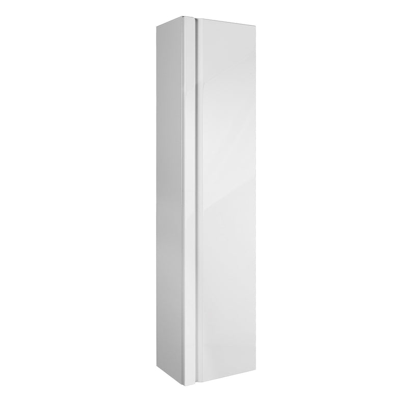 "16"" Tall Side Cabinet, Wall Mount, 1 Door whit Soft Close and Reversible Opening, White, Serie Solco by VALENZUELA"