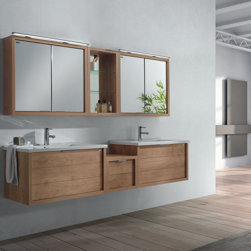 "32"" Single Vanity, Wall Mount, Drawer with Soft Close, Oak, Serie Tino by VALENZUELA"