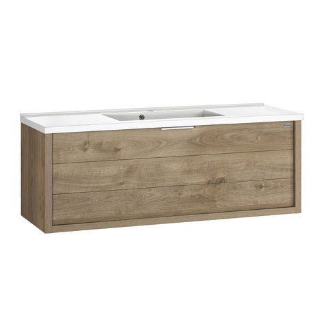 "48"" Single Vanity, Wall Mount, Drawer with Soft Close, Oak, Serie Tino by VALENZUELA"