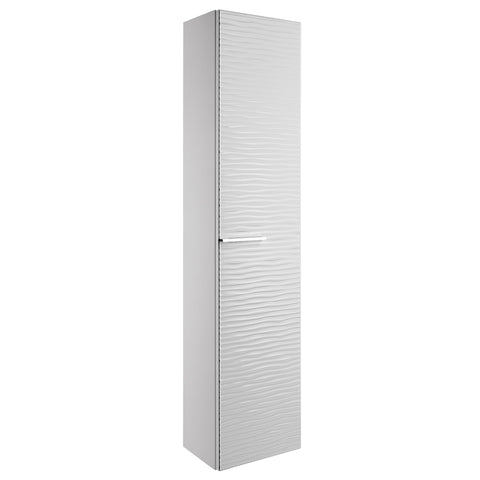 "16"" Tall Side Cabinet, Wall Mount, 1 Door whit Handle and Soft Close and Reversible Opening, White, Serie Dune by VALENZUELA"