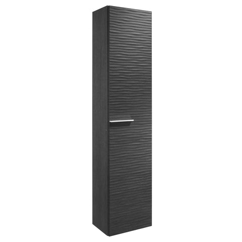 VALENZUELA Dune Tall Bathroom Side Cabinet, Wall Mount, 1 Door whit Soft Close and Reversible Opening, 16 Inches, Grey Finish (VUG2130210)