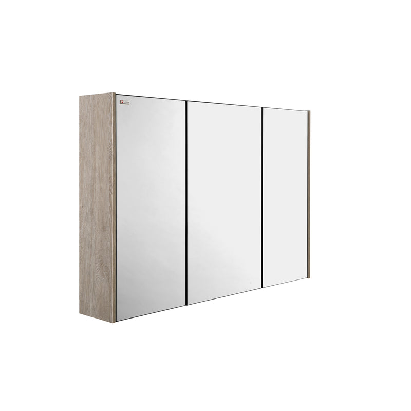 "48"" Medicine Cabinet Bathroom Vanity Mirror, Wall Mount, 3 Doors, Cloud, Serie Barcelona by VALENZUELA"