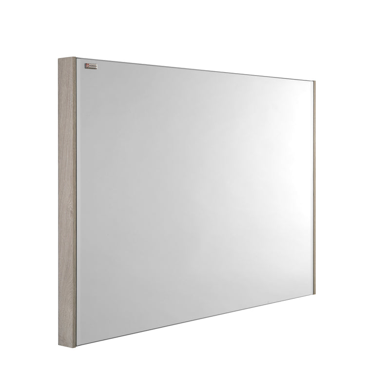 "48"" Slim Frame Bathroom Vanity Mirror, Wall Mount, Nature, Serie Fine by VALENZUELA"
