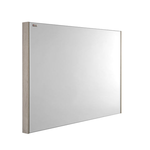 "40"" Slim Frame Bathroom Vanity Mirror, Wall Mount, Cloud, Serie Barcelona by VALENZUELA"