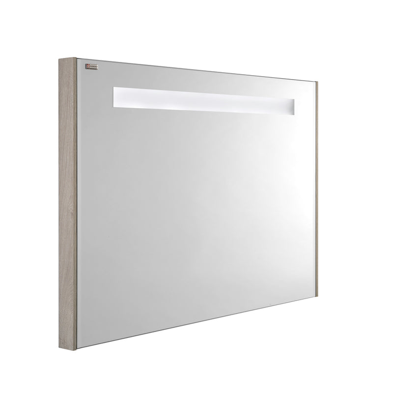 "28"" LED Backlit Bathroom Vanity Mirror, Wall Mount, Cloud, Serie Barcelona by VALENZUELA"