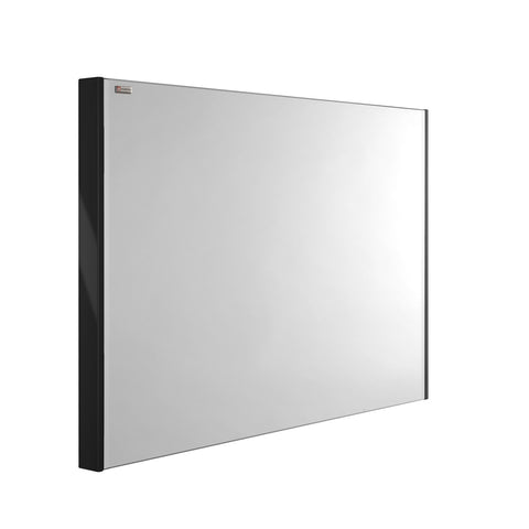 "48"" Slim Frame Bathroom Vanity Mirror, Wall Mount, Black, Serie Dune/Solco by VALENZUELA"
