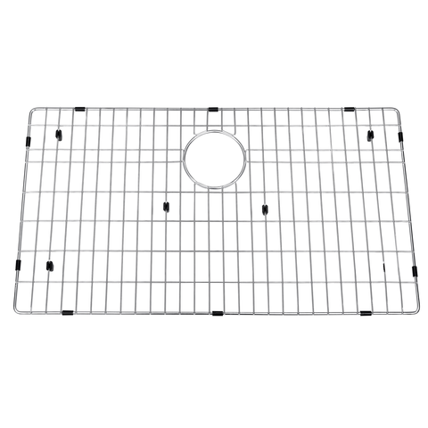 DAX Grid for Kitchen Sink, Stainless Steel Body, Chrome Finish, Compatible with DAX-SQ-3018, 27-1/2 x 15-3/4 Inches (GRID-SQ3018)