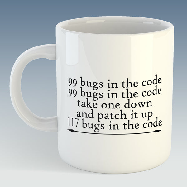 99 Bugs in the Code, Office Humour Mug