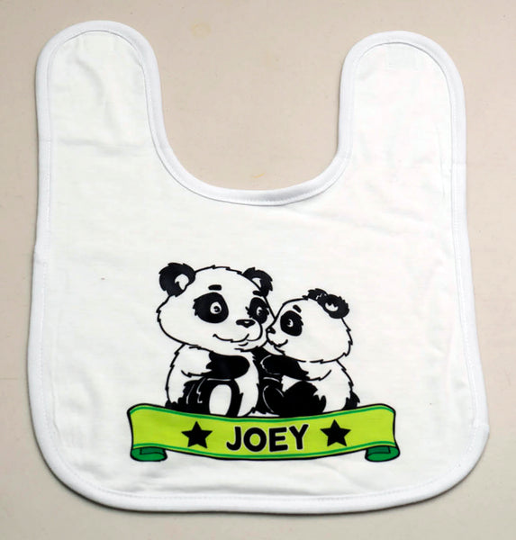 Panda Design Baby Bib - PERSONALISED