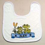 Frog Design Baby Bib - PERSONALISED