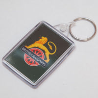 Cranks - Lion & Wheel Railway Keyring (Green Background)