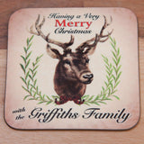 Christmas Family Mug - Personalised (Stag)