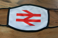 British Rail Double Arrows Face Mask - ADULTS (LARGE)
