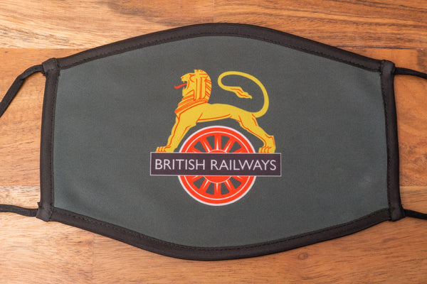 British Railways Lion and Wheel facemask - ADULTS (LARGE)