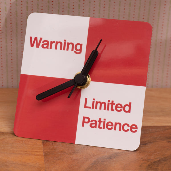Limited Patience Railway Sign - Small desk clock