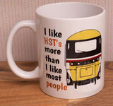 I Like Trains More Than I Like Most People - HST (Intercity) - Mug & T Shirt set